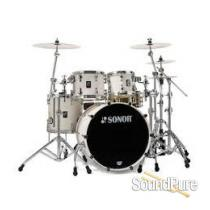 Sonor 4pc Prolite Stage 2 Drum Set-Creme White