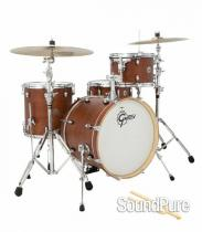 Gretsch 4pc Catalina Club Jazz Drum Set-Satin Walnut Glaze