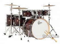 Gretsch 6pc Catalina Maple Drum Set-Deep Cherry Burst