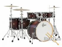 Gretsch 6pc Catalina Maple Drum Set-Satin Deep Cherry Burst