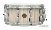 Gretsch 6.5x14 White Barn Board Stave Snare Drum-Natural