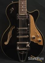 Duesenberg Starplayer TV Black SemiHollow Electric Guitar 85