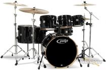 PDP 7pc Concept Maple Drum Set by DW-Pearlescent Black
