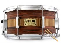 Pork Pie 7x13 Maple Snare Drum-Rosewood/Zebrawood  Veneer