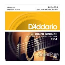 D'Addario EJ14 80/20 Bronze Light 12-56 Acoustic Strings