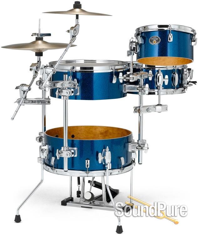tama 4pc silverstar vk cocktail drum set indigo sparkle. Black Bedroom Furniture Sets. Home Design Ideas
