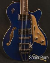 Duesenberg Starplayer TV Blue Sparkle Semi-Hollow Guitar 935