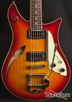 Duesenberg Double Cat Fireburst Semi-Hollow Electric Guitar