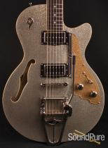 Duesenberg Starplayer TV Silver Sparkle Semi-Hollow Guitar