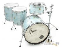 Gretsch 4pc USA Drum Set Vintage White Oyster-Used