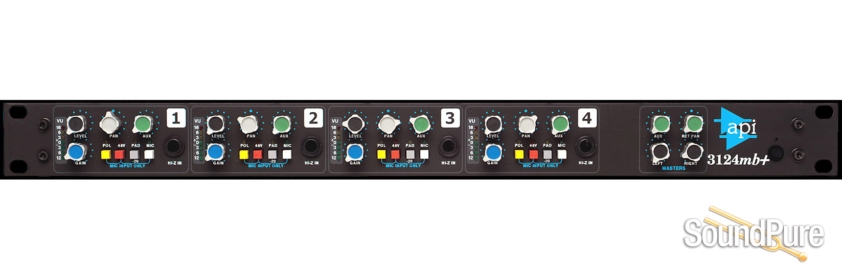 API Audio 3124MB+ 4-Channel Mic Preamp/Mixer | Soundpure com