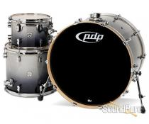 PDP 3pc Concept Maple Drum Set by DW-Silver Black Fade