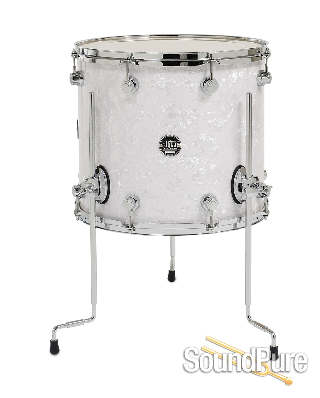 Dw performance series 14x16 floor tom white marine pearl for 16 x 14 floor tom