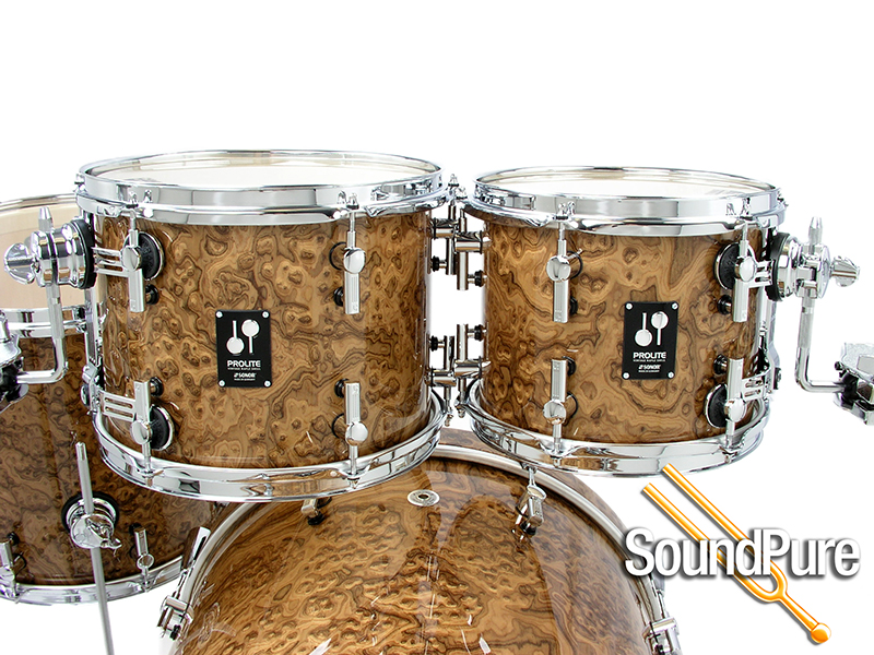 Sonor 4pc Prolite Studio Drum Set Chocolate Burl