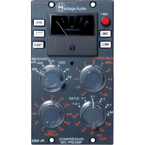 heritage audio 2264 jr 500 series compressor preamp. Black Bedroom Furniture Sets. Home Design Ideas