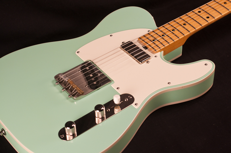 michael tuttle tuned t surf green electric guitar used. Black Bedroom Furniture Sets. Home Design Ideas